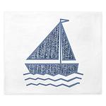 Little jeans sailboat King Duvet