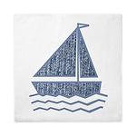 Little jeans sailboat Queen Duvet