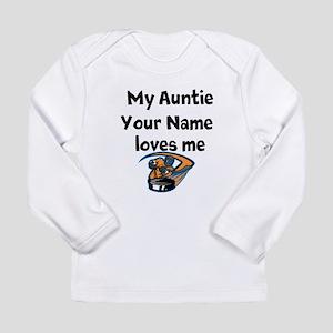 My Auntie Loves Me Hockey (Custom) Long Sleeve T-S