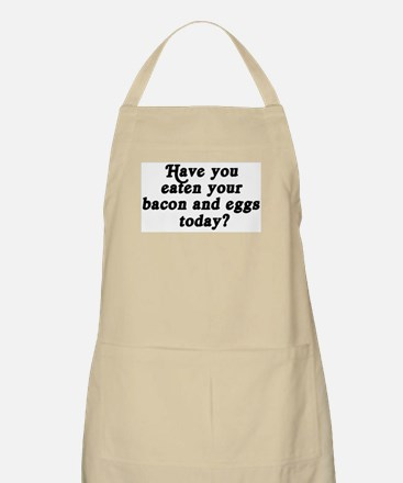 bacon and eggs today BBQ Apron