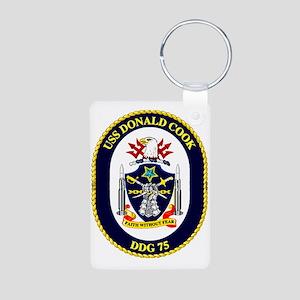 DDG-71 USS Ross Aluminum Photo Keychain