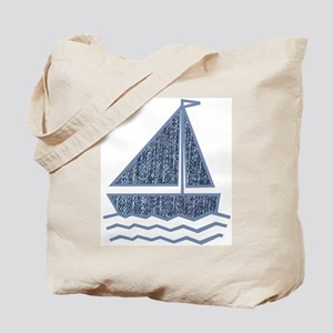 Little jeans sailboat Tote Bag