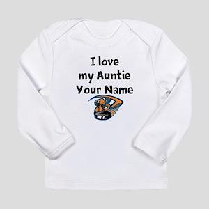 I Love My Auntie Hockey (Custom) Long Sleeve T-Shi