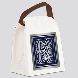 Romanesque Monogram K Canvas Lunch Bag