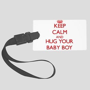Keep Calm and HUG your Baby Boy Luggage Tag