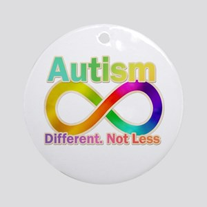 Autism. Different. Not Less Ornament (Round)