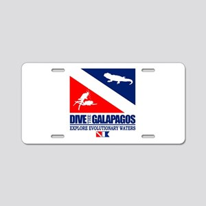 Dive The Galapagos Aluminum License Plate