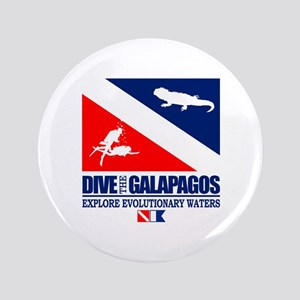"Dive The Galapagos 3.5"" Button"