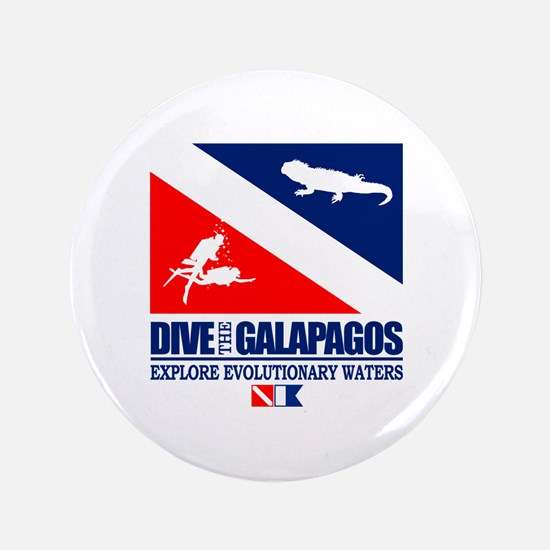 "Dive The Galapagos 3.5"" Button"