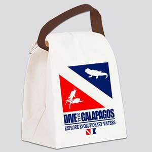 Dive The Galapagos Canvas Lunch Bag