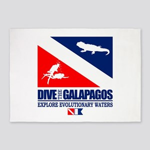 Dive The Galapagos 5'x7'Area Rug
