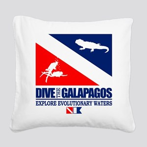 Dive The Galapagos Square Canvas Pillow