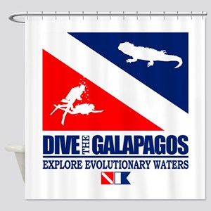 Dive The Galapagos Shower Curtain
