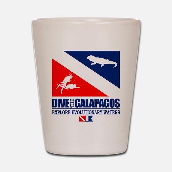 Dive The Galapagos Shot Glass
