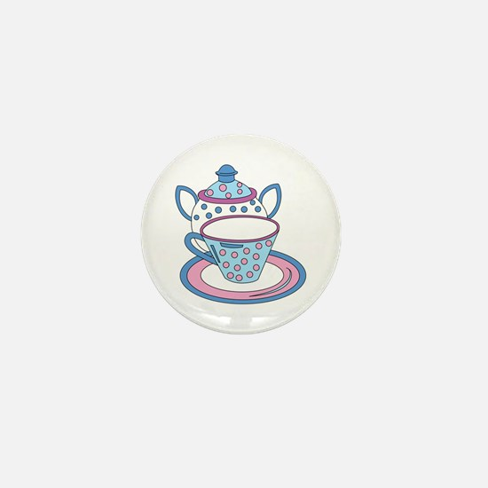 Teacup Teapot Drink Mini Button