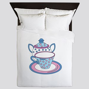 Teacup Teapot Drink Queen Duvet