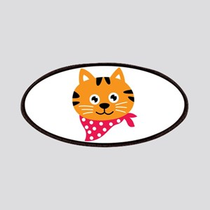 Cat Head Animal Neck Scarf Patches