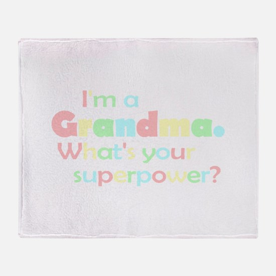 Im a Grandma Throw Blanket