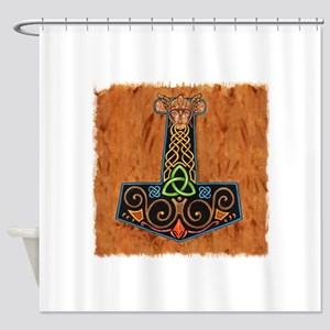 Thors Hammer in color Shower Curtain