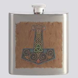 Thors Hammer in color Flask