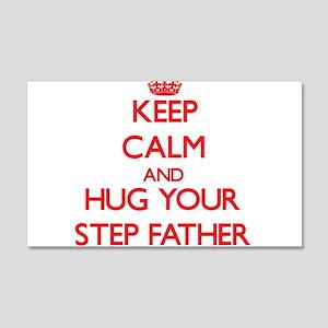 Keep Calm and HUG your Step-Father Wall Decal