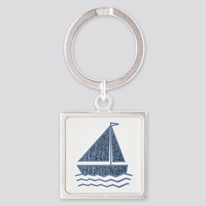 Little jeans sailboat Keychains
