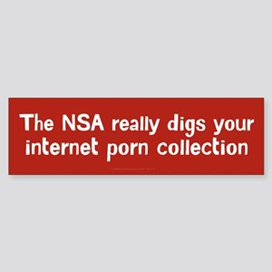 The NSA Digs Your Porn Bumper Sticker
