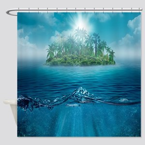 Ocean Island Shower Curtain