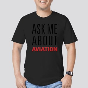 Aviation - Ask Me Abou Men's Fitted T-Shirt (dark)