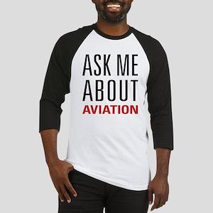 Aviation - Ask Me About Baseball Jersey