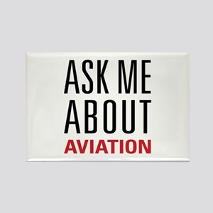 Aviation - Ask Me About Rectangle Magnet