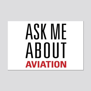 Aviation - Ask Me About Mini Poster Print
