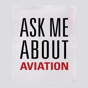 Aviation - Ask Me About Throw Blanket