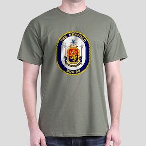 USS Benfold DDG 65 Black T-Shirt
