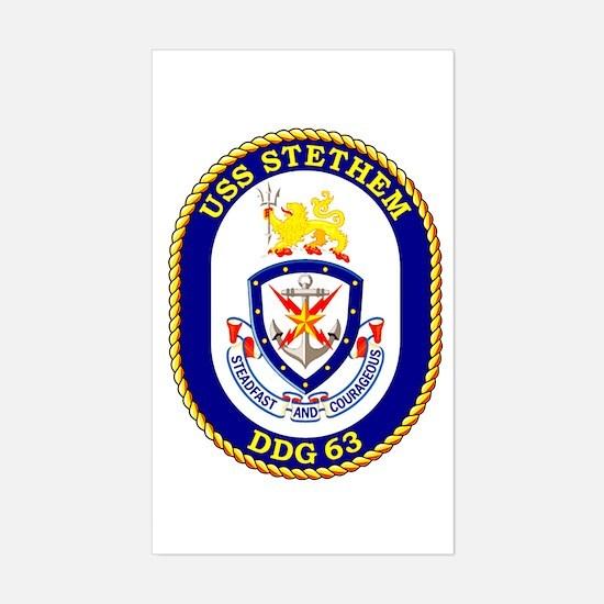 USS Stethem DDG 63 Rectangle Decal