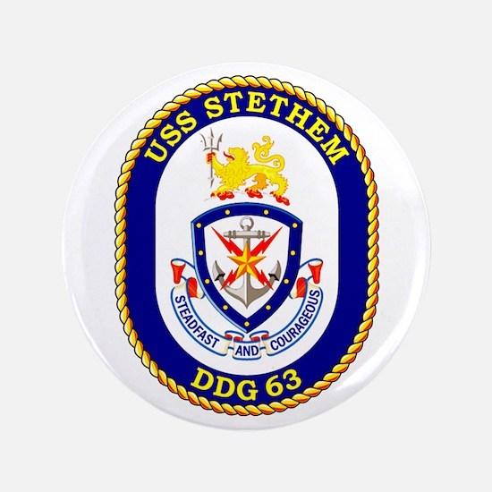 """USS Stethem DDG 63 3.5"""" Button"""