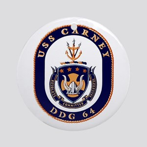 USS Carney DDG 64 Ornament (Round)