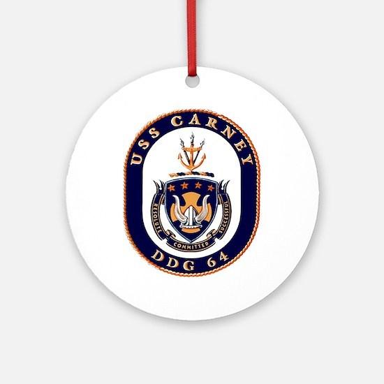 USS Carney DDG 64 Ornament (Round)