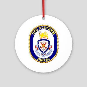 USS Stethem DDG 63 Ornament (Round)