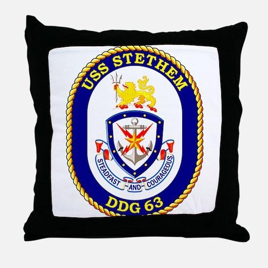 USS Stethem DDG 63 Throw Pillow