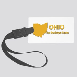State - Ohio - Buckeye State Large Luggage Tag