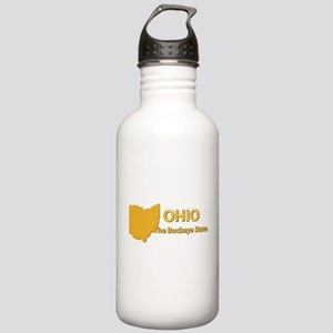 State - Ohio - Buckeye Stainless Water Bottle 1.0L