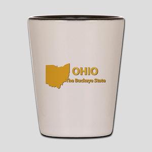 State - Ohio - Buckeye State Shot Glass