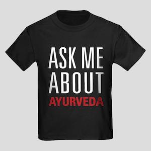 Ayurveda - Ask Me About Kids Dark T-Shirt
