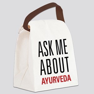 Ayurveda - Ask Me About Canvas Lunch Bag