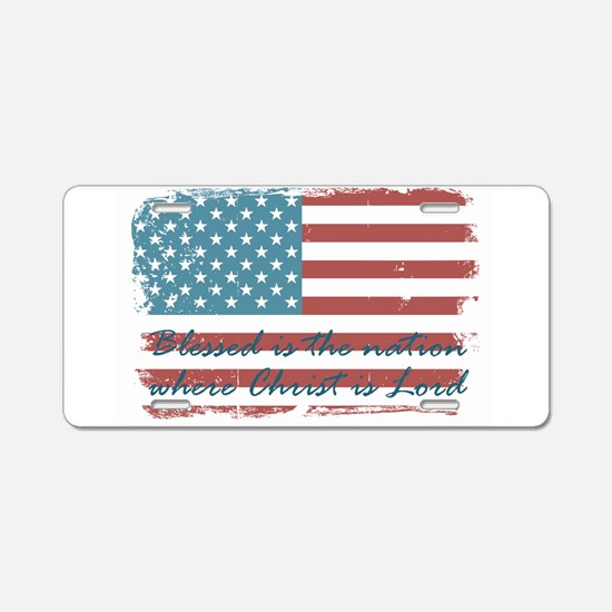 Blessed Nation Aluminum License Plate