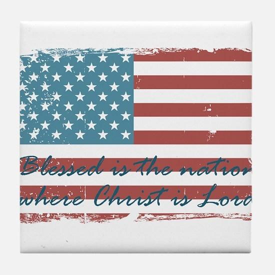 Blessed Nation Tile Coaster
