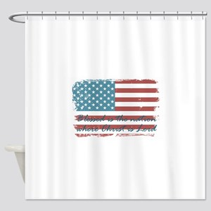 Blessed Nation Shower Curtain