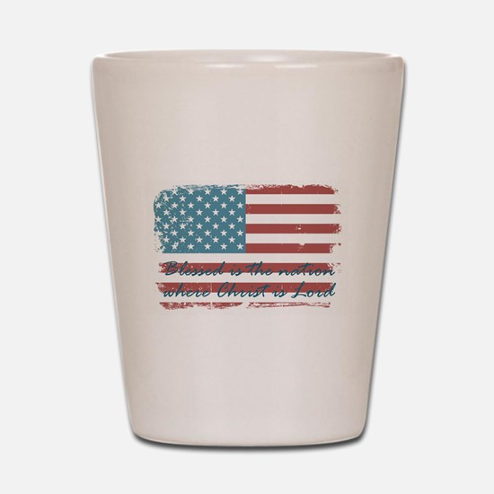 Blessed Nation Shot Glass