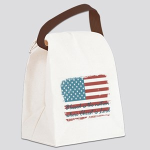 Blessed Nation Canvas Lunch Bag